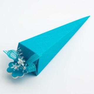 Punt Doosjes Turquoise Zijdeglans – 15.5 cm – 10 Stuks