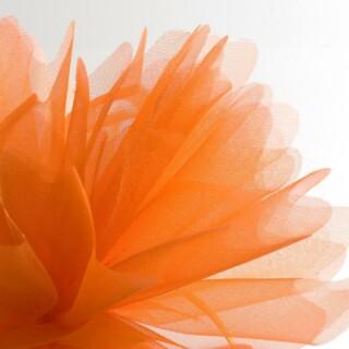 Orange Organza Tule gekartelde rand - 50 Stuks