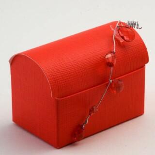 Doosjes Rood Zijdeglans – Koffer model 7 x 4.5 x 5.2 cm – 10 Stuks