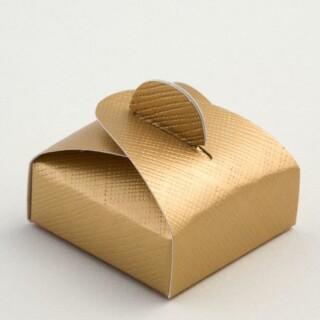 Doosjes Goud Zijdeglans - Mini Buideltje 4.7 x 4.7 x 1.7 cm - 10 Stuks