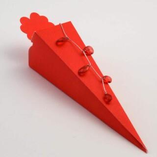 Punt Doosjes Rood Zijdeglans – 15.5 cm – 10 Stuks