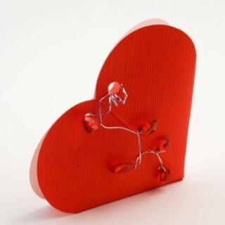 Hartvormige Doosjes – Rood Zijdeglans – 6.5 x 1.5 cm – 10 Stuks