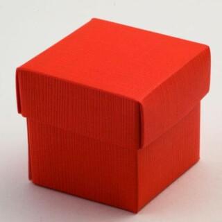 Rode Doosjes met Deksel – Zijdeglans – 5 x 5 x 5 cm – 10 Stuks