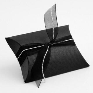 Doosjes Zwart Zijdeglans – Sachet 7 x 7 x 2.5 cm – 10 Stuks
