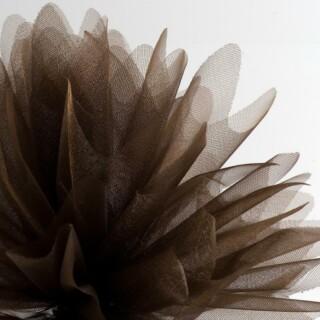 Bruin Organza Tule gekartelde rand - 50 Stuks