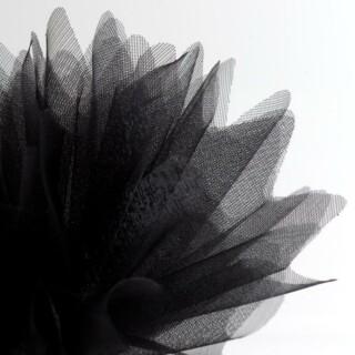 Zwart Organza Tule gekartelde rand - 50 Stuks
