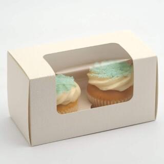 Luxe Cupcake Dozen Antiekwit - 2 cup cakes- 10 Stuks