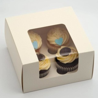 Luxe Cupcake Dozen Antiekwit - 4 cup cakes- 10 Stuks