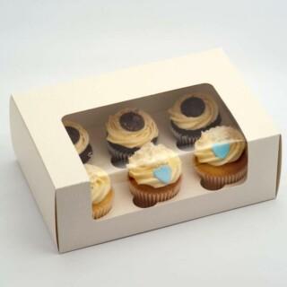 Luxe Cupcake Dozen Antiekwit - 6 cup cakes- 10 Stuks