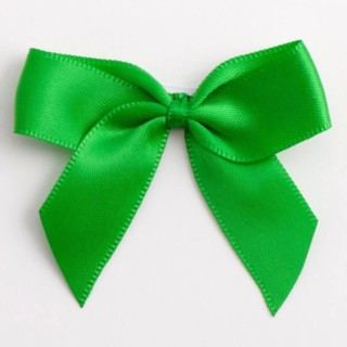 Satijnen Strikjes Emerald (Zelfklevend) 5 cm - 12 stuks