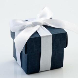 Doosjes met Deksel - Navy Blue – 5 x 5 x 5 cm – 10 Stuks