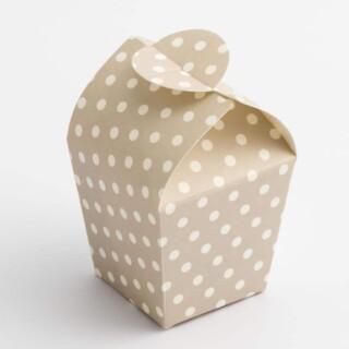 Mini Doosjes Grijs Polka Dot – 3.3 x 3.3 x 6.5 cm – 10 Stuks