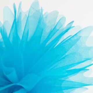 Turquoise Organza Tule gekartelde rand - 50 Stuks