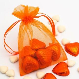 Organza zakjes Oranje - 10 cm x 12.5 cm - 10 Stuks