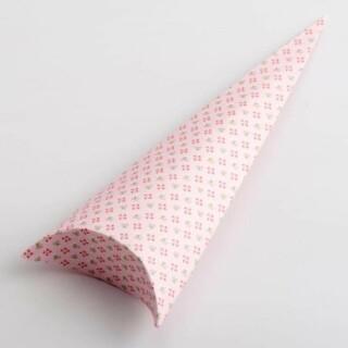 Punt Doosjes Roze Bloem Design – 19 cm – 10 Stuks