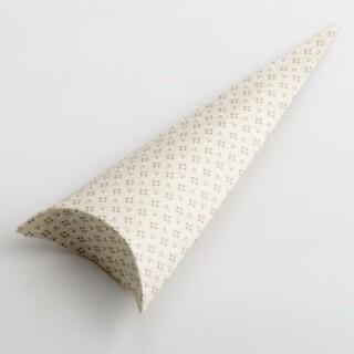 Punt Doosjes Parel Grijs Bloem Design – 19 cm – 10 Stuks