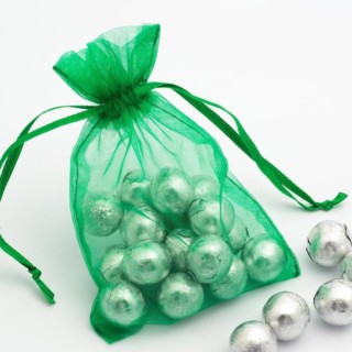 Organza zakjes Emerald - 10 cm x 12.5 cm - 10 Stuks