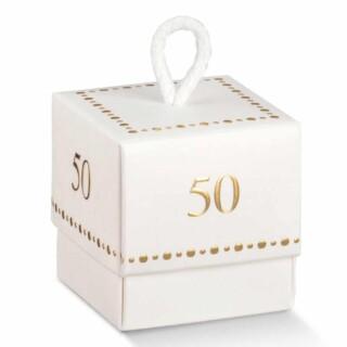 50 jaar Doosjes met Koord - 10 Stuks