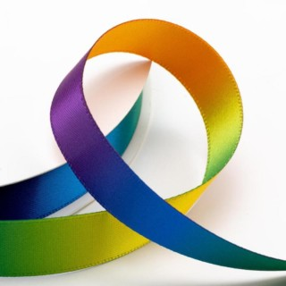 Satijn Lint Rainbow