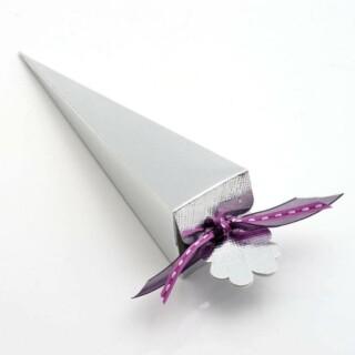 Punt Doosjes Zilver Zijdeglans - 15.5 cm - 10 Stuks
