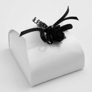 Doosjes Glossy Wit – Mini Buideltje 4.7 x 4.7 x 1.7 cm – 10 Stuks