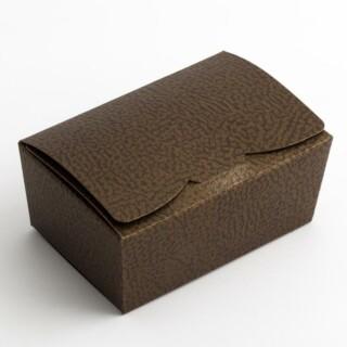 Pralinedoosjes Bruin/Goud Hoogglans - 10.3 x 6.7 x 4.5 cm - 10 Stuks