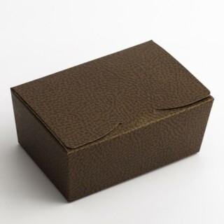 Pralinedoosjes Bruin/Goud Hoogglans - 12.5 x 8 x 5.5 cm - 10 Stuks
