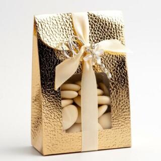Doosjes Goud Leatherlook - Medium Tasje - 9 x 4. 5 x 13 cm - 10 Stuks