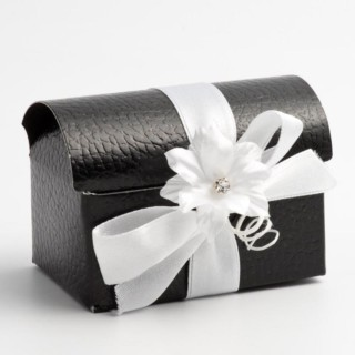 Doosjes Zwart Leatherlook – Koffer model - 7 x 4.5 x 5.2 cm – 10 Stuks