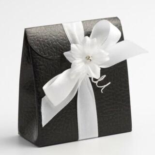 Doosjes Zwart Leatherlook – Tasje – 7 x 3.5 x 8 cm – 10 Stuks