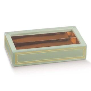 Luxe Bonbondoosjes Groen/Goud - 14.5 x 7.5 x 3.5 cm - 10 Stuks