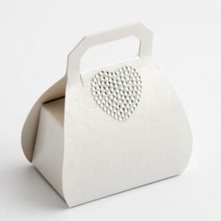 Witte Doosjes Parelmoer - Handtas 8 cm - 10 stuks