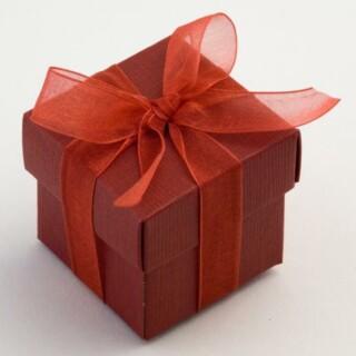 Bordeaux Rode Doosjes met Deksel - Zijdeglans - 5 x 5 x 5 cm - 10 Stuks