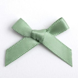 Satijnen Strikjes Sage Groen 3 cm - 100 stuks