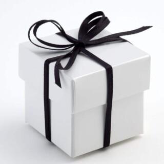 Doosjes met Deksel Glossy Wit – 5 x 5 x 5 cm – 10 Stuks