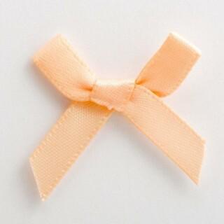 Satijnen Strikjes Peach 3 cm - 100 stuks