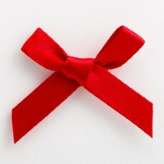 Satijnen Strikjes Rood 3 cm - 100 stuks