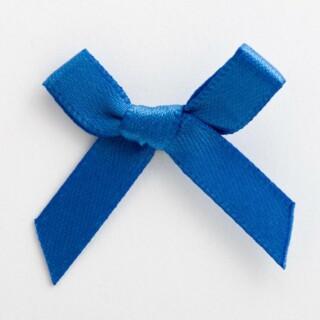 Satijnen Strikjes Koningsblauw 3 cm - 100 stuks