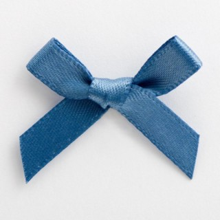 Satijnen Strikjes Smoke Blue 3 cm - 100 stuks
