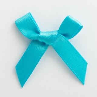 Satijnen Strikjes Turquoise 3 cm - 100 stuks