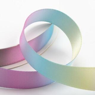 Satijn Lint Pastel Rainbow
