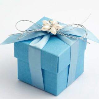 Blauwe Doosjes met Deksel – Zijdeglans – 5 x 5 x 5 cm – 10 Stuks