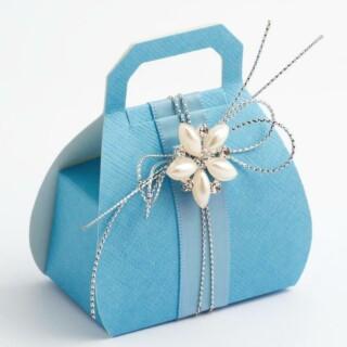 Blauwe Doosjes – Handtas 8 cm – 10 stuks