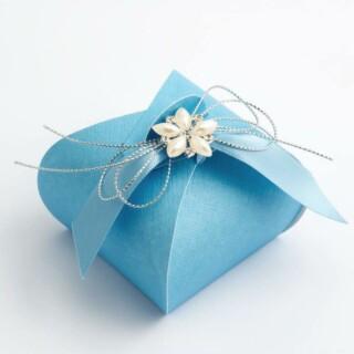 Cupcake Doosjes Blauw - 5.5 x 5.5 x 5 cm - 10 Stuks