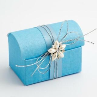 Doosjes Blauw - Koffer - 7 x 4.5 x 5.2 cm – 10 Stuks