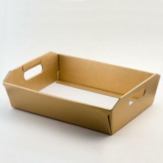 Kartonnen Dienblad - Goud Zijdeglans - 40 x 30 x 12 cm – 10 Stuks