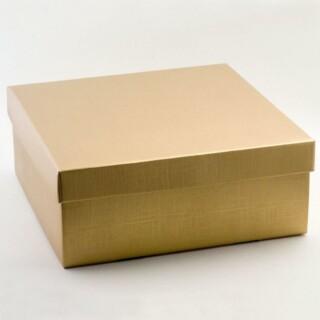 Geschenkdozen Goud Zijdeglans - 30 x 30 x 12 cm - 10 Stuks