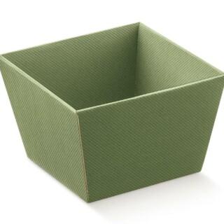 Geschenkmanden Groen Karton - 10 Stuks