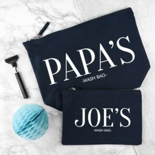 Toilettassen Set Blauw Papa & Ik