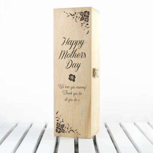 Wijnkist Met Bloemen Moederdag
